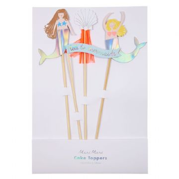 Let's be Mermaid Cake Toppers - pack of 4